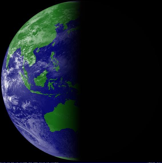 春分の日の地球