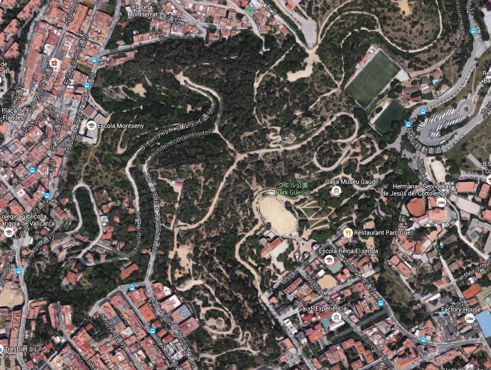 グエル公園地図
