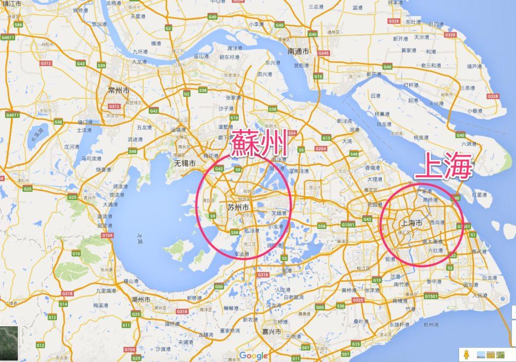 蘇州の地図2